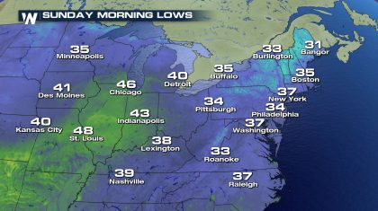 Record Cold to Freeze East This Weekend