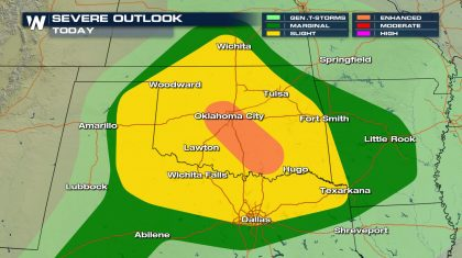 Strong Storms Likely in Texas, Oklahoma Late This Week