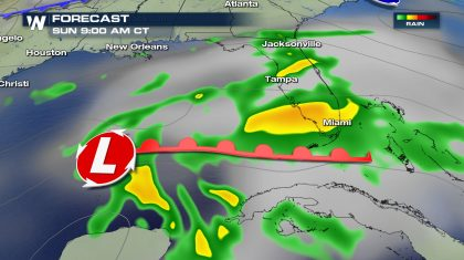Gulf Low to Bring Heavy Rain Mother's Day Weekend