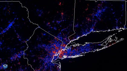Satellites Observe Changes in Nighttime Lights Around New York City