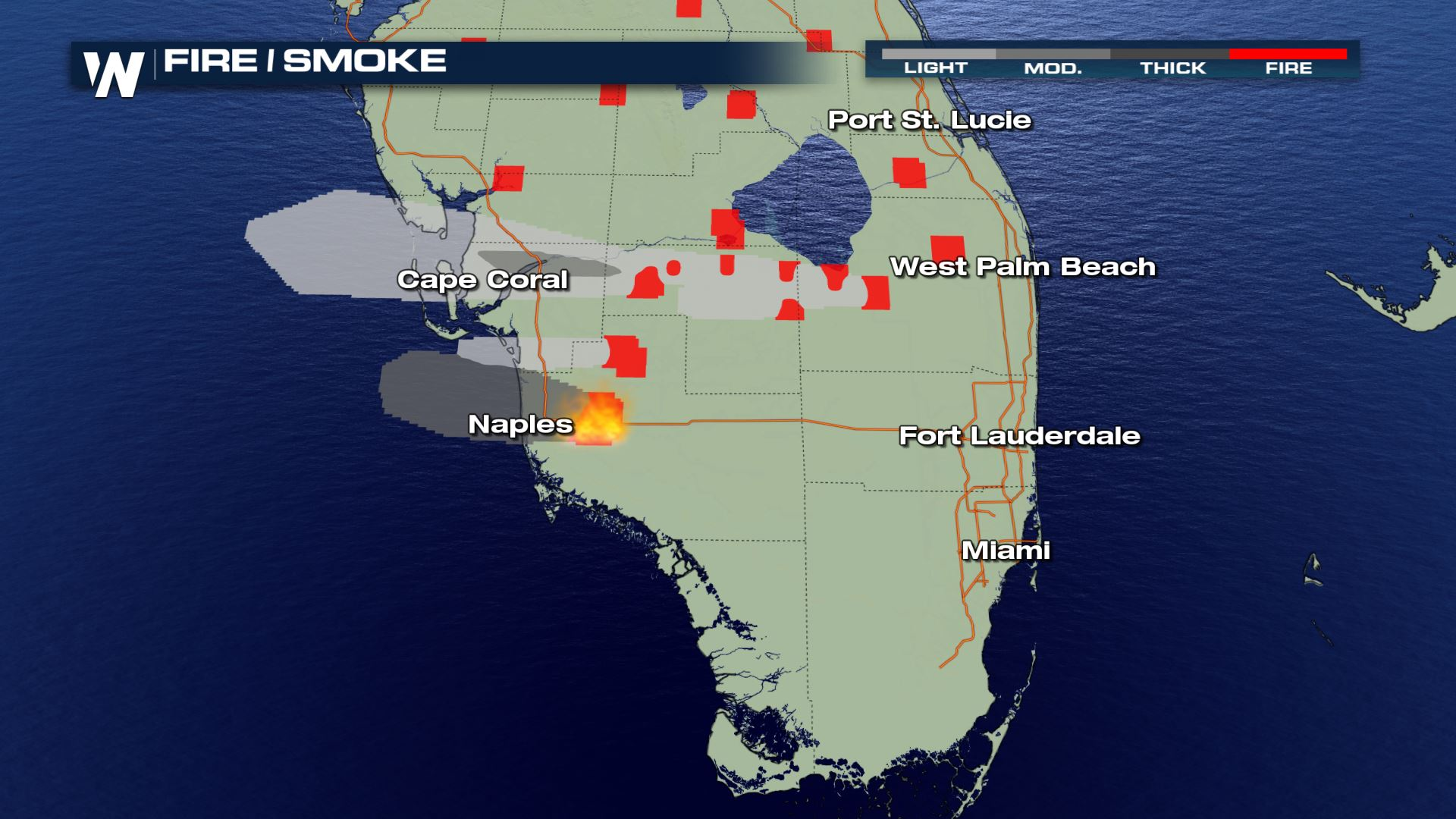 Map Of Florida Fires Wildfires Burning in Southwest Florida   WeatherNation
