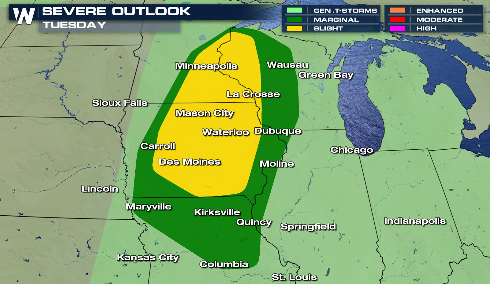 Risk for Severe Thunderstorms in the Upper Midwest