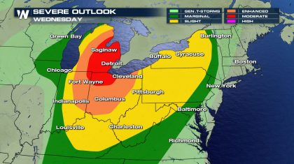 Midwest, Northeast Severe Threat Continues