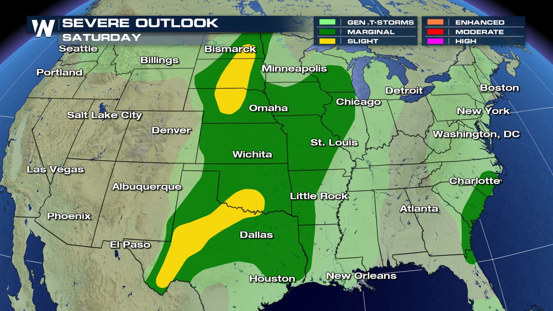 Widespread Severe Weather Risk on Saturday