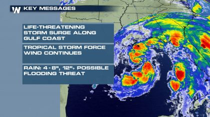 Cristobal Makes Landfall On Louisiana Coast