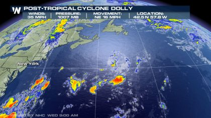 Tropics: Dolly Weakens To Remnant Low