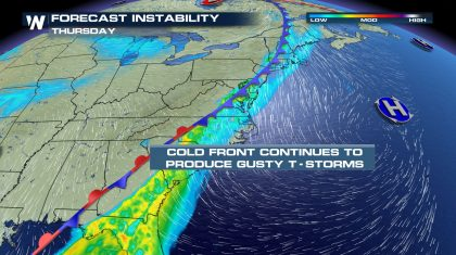 East Coast: Strong Storms Thursday