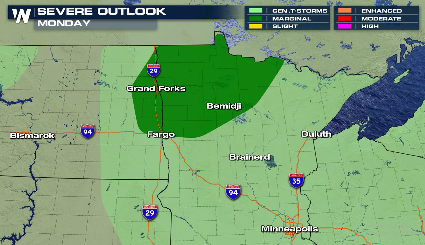 Severe Storms in the Upper Midwest Monday