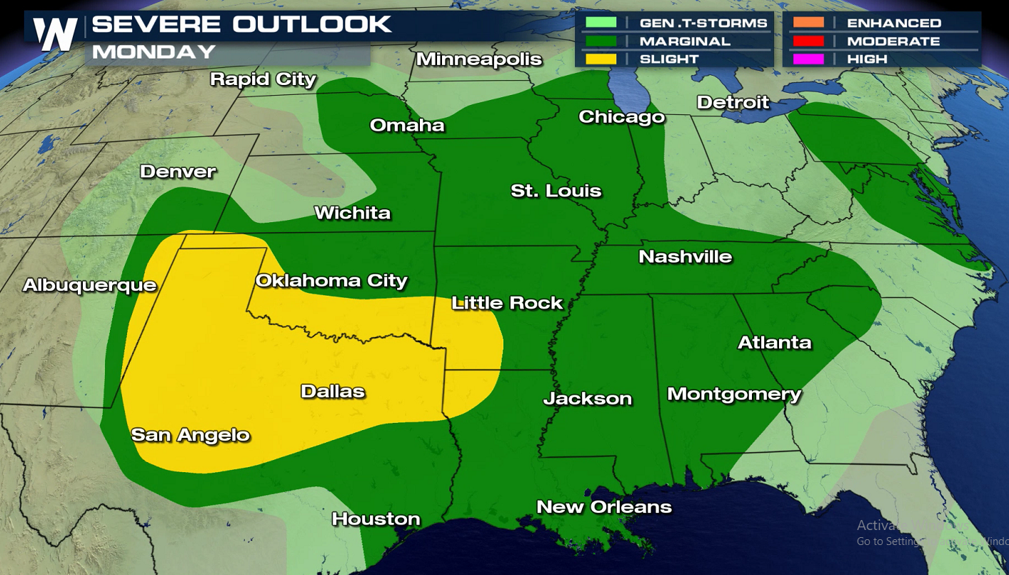 More Severe Storms Likely Monday