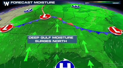 Plains and Ohio Valley Flood Risk Over Next Few Days