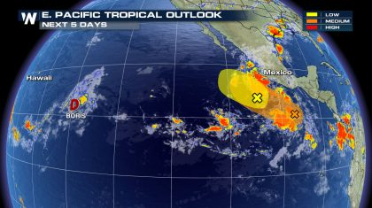 Boris Spins in Active Eastern Pacific Basin