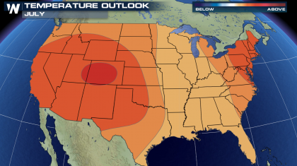 Lots of Summertime Heat in the July Outlook