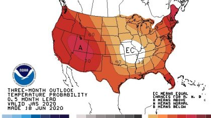 July through September Outlook Calls for Heat