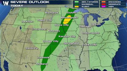 Thursday Severe Weather from the Upper Midwest to Southern Plains