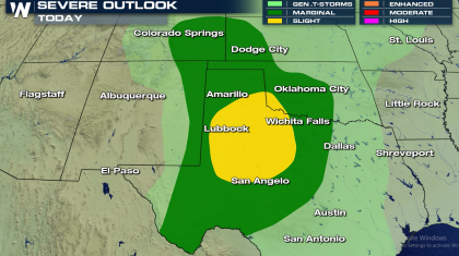 Southern Plains Severe Weather Threat Friday