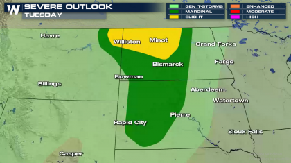 Tuesday Severe Storms in the Northern Plains