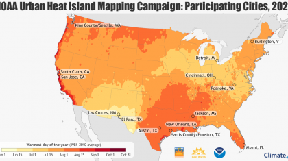 NOAA and Community Scientists to Map Hottest Parts of 13 Cities This Summer