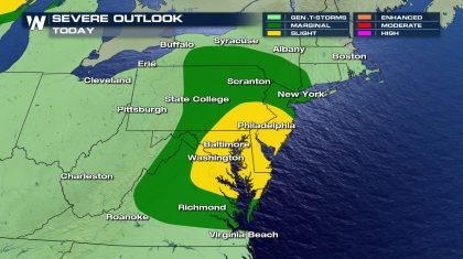 Severe Risk Continues for Northeast