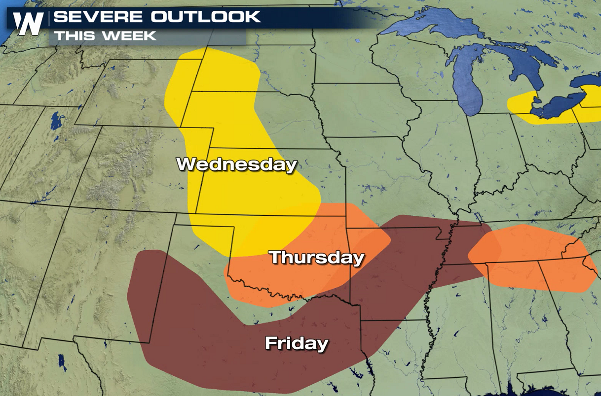 Plains Severe Weather Chances This Week