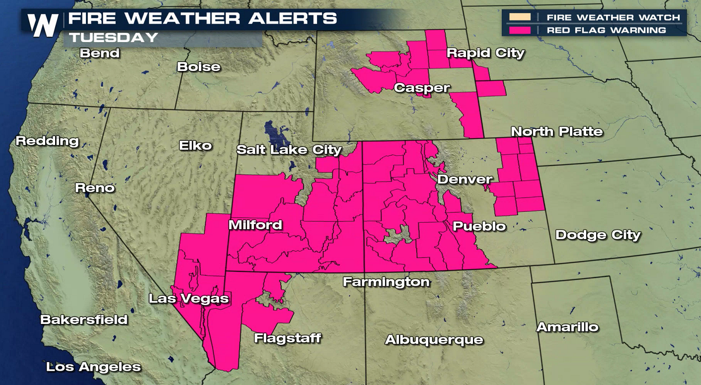 High Fire Danger Continues Across the Southwest