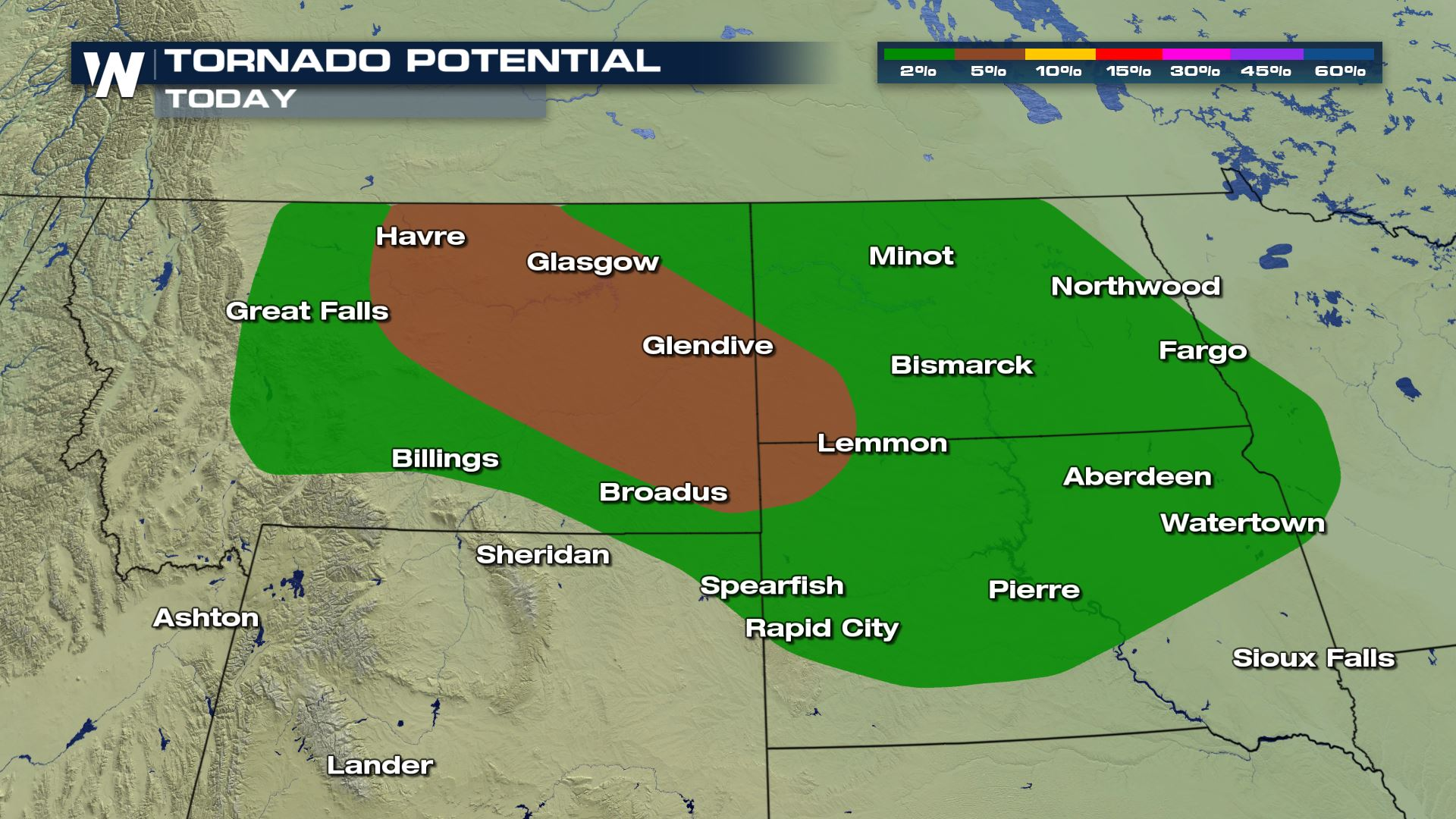Large Hail and Tornado Risk for the Northern Plains Tuesday