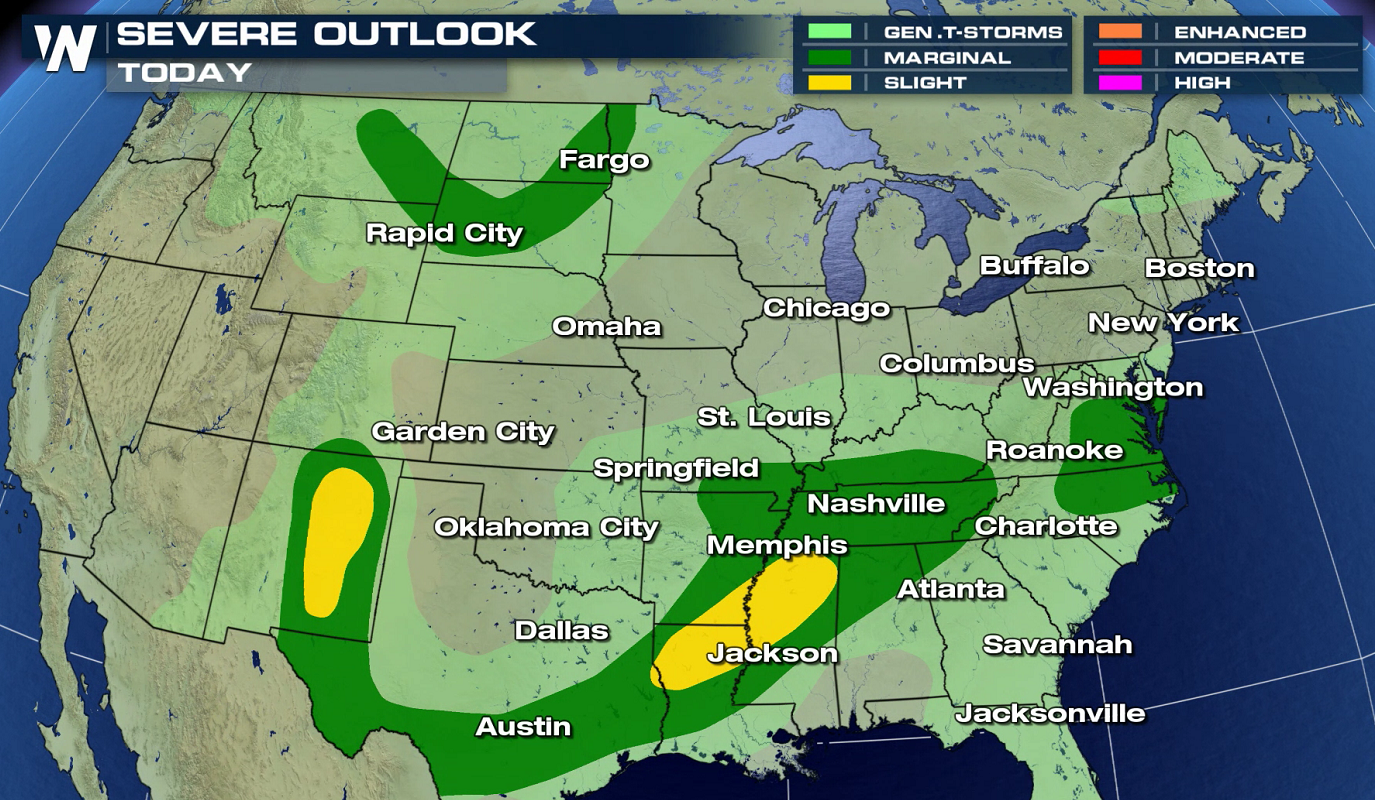 Severe Weather Outlook for Friday