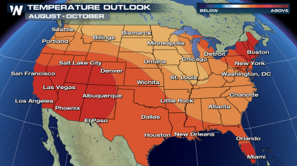 August to October Outlook Favors Warmer Than Average Temperatures