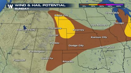Sunday Severe Risk in the Forecast for the Central Plains
