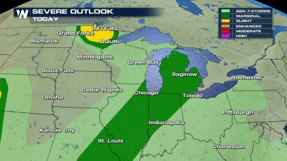Severe Weather Risk Continues in the Plains & Midwest