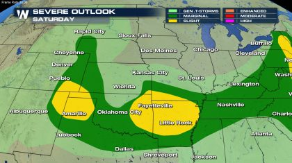 Severe Storms & Heavy Rain Target the Plains