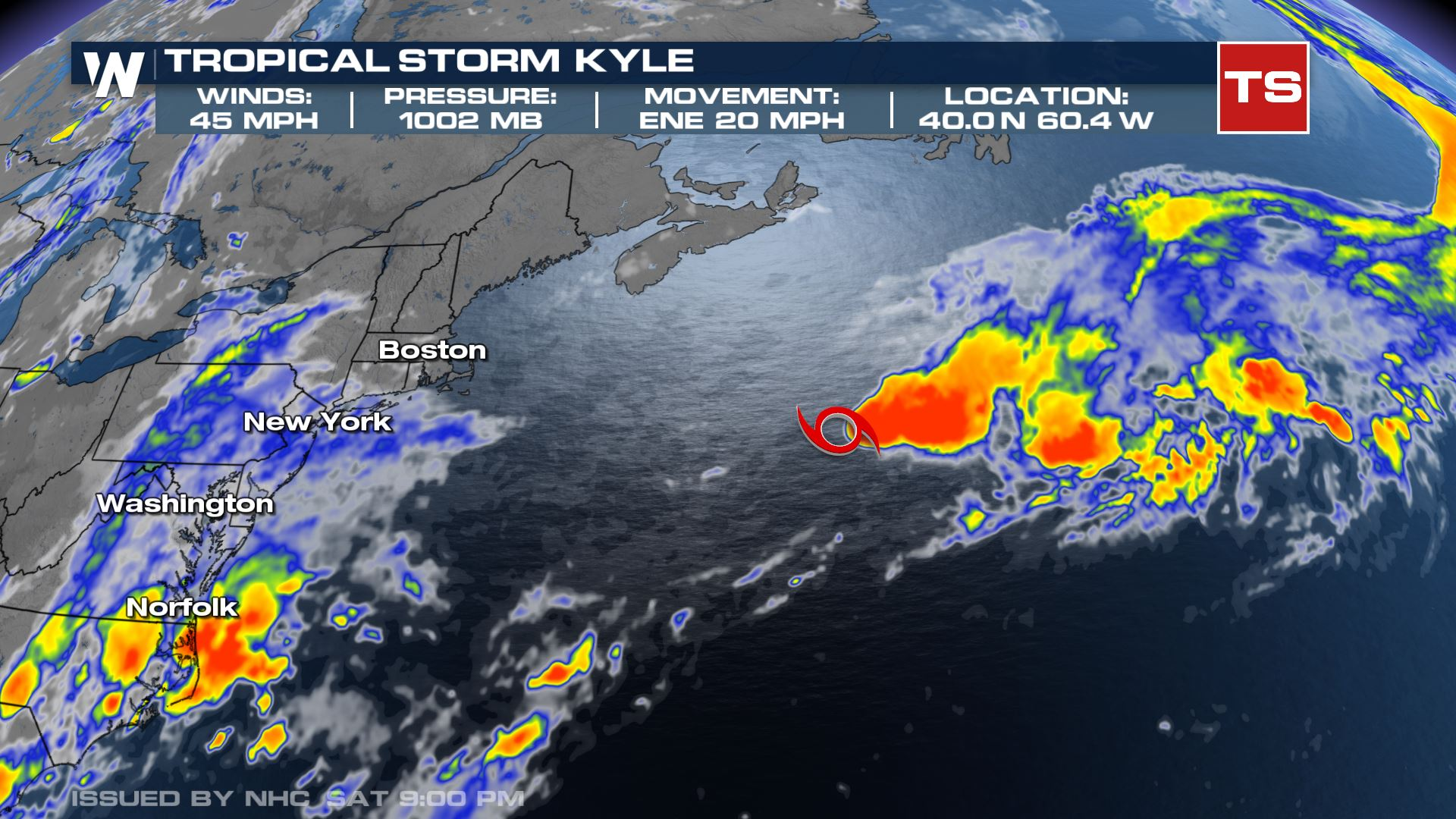 Tropical Storm Kyle Was Earliest K Named Storm