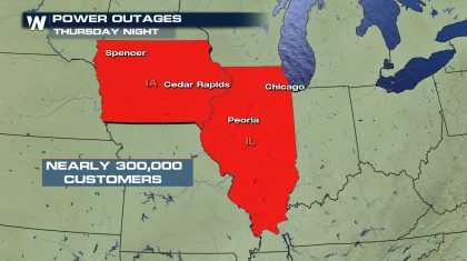 Iowa Power Outages May Last A Week After Derecho
