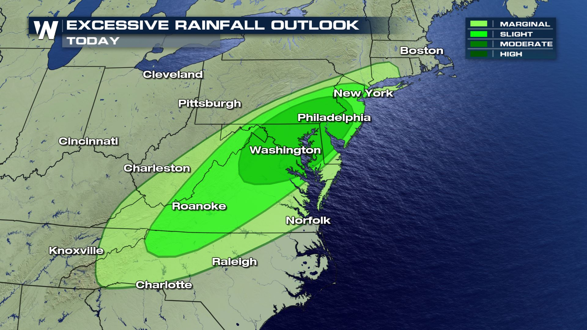 Flooding Downpours Target Mid-Atlantic