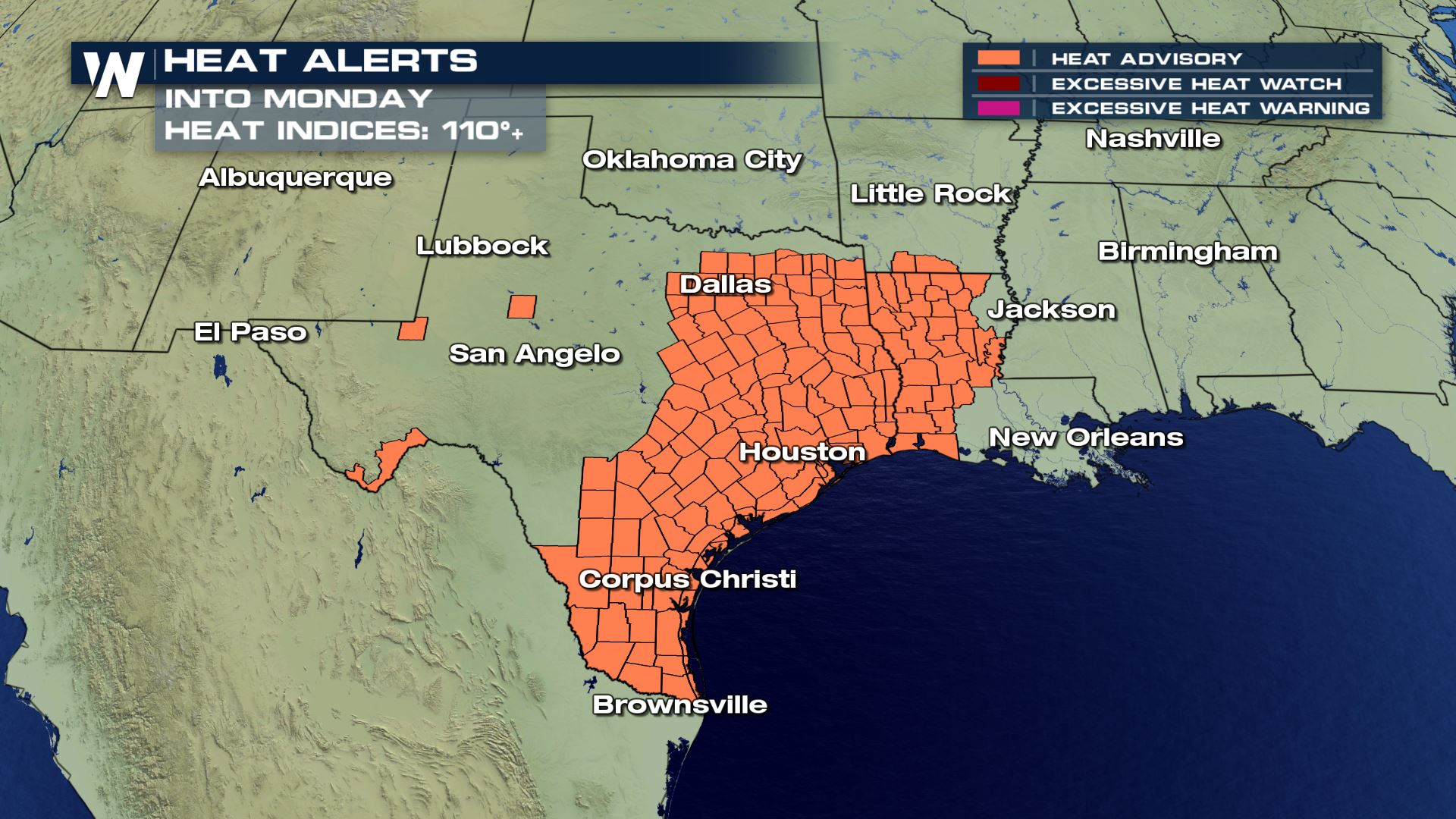 Dangerous heat and humidity Continues Over the South