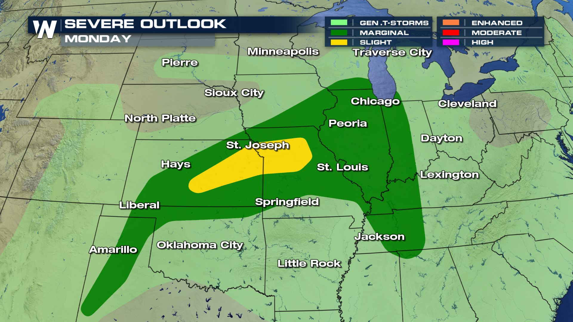Midwest Severe Weather Threat On Monday