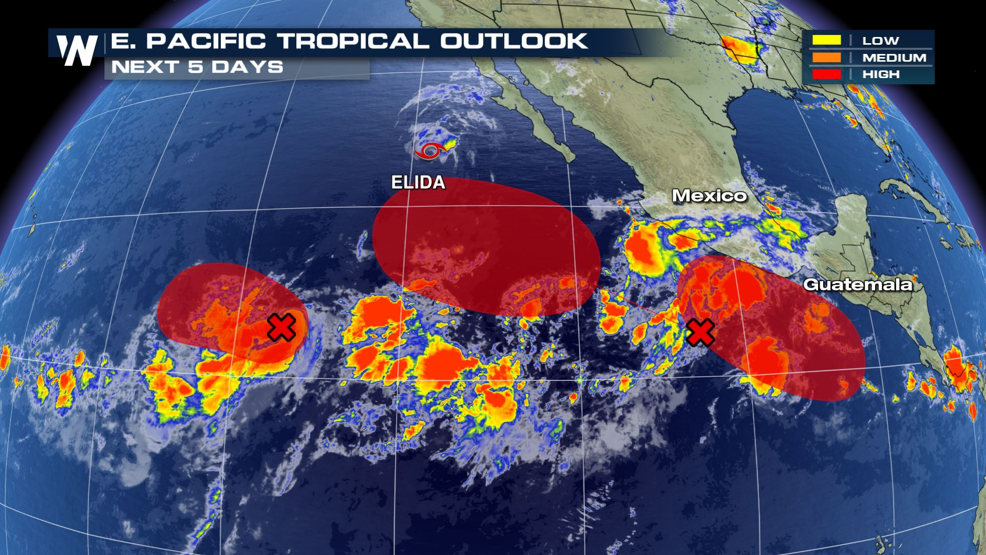 Eastern Pacific Tropics Getting Active