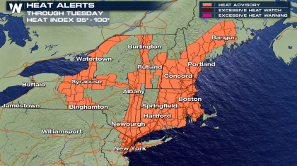 Hot in the Northeast with the Threat for Severe Storms