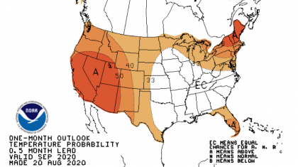 September Outlook:  More Heat and Dry Conditions Forecast for the West