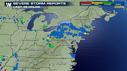 Severe Thunderstorm Threat Continues in the Northeast