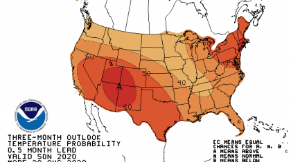 More Warmth in the September through November Outlook