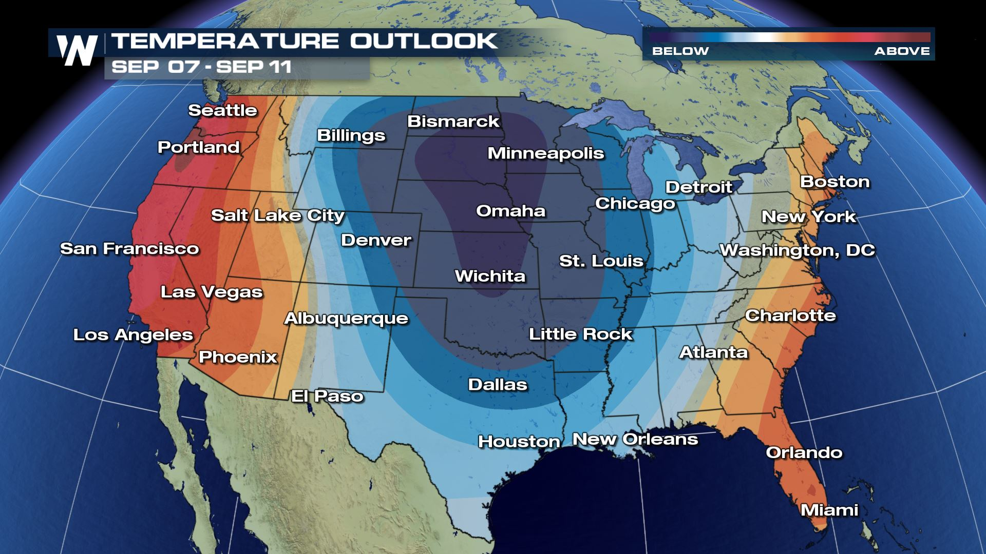 Fall-Like Conditions on the way for the Central US