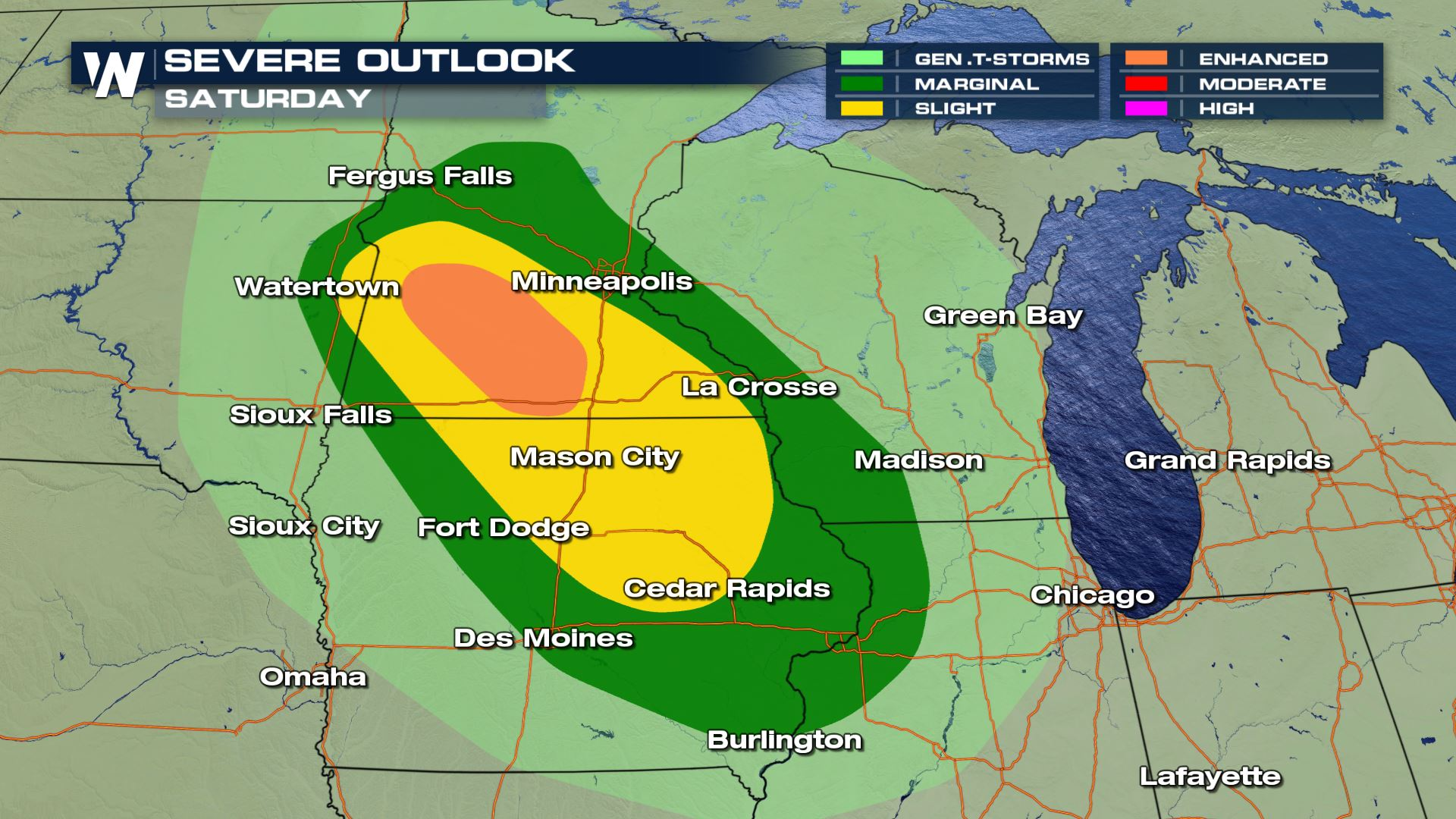 Labor Day Weekend Severe Storms Possible in the Upper Midwest
