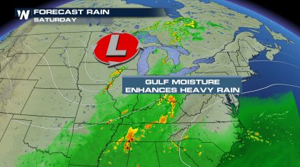 Cold Low Brings Risk for Flooding & Strong Storms