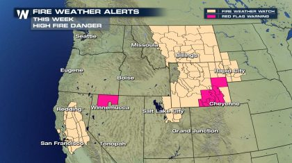 Critical Fire Weather Returns To The West