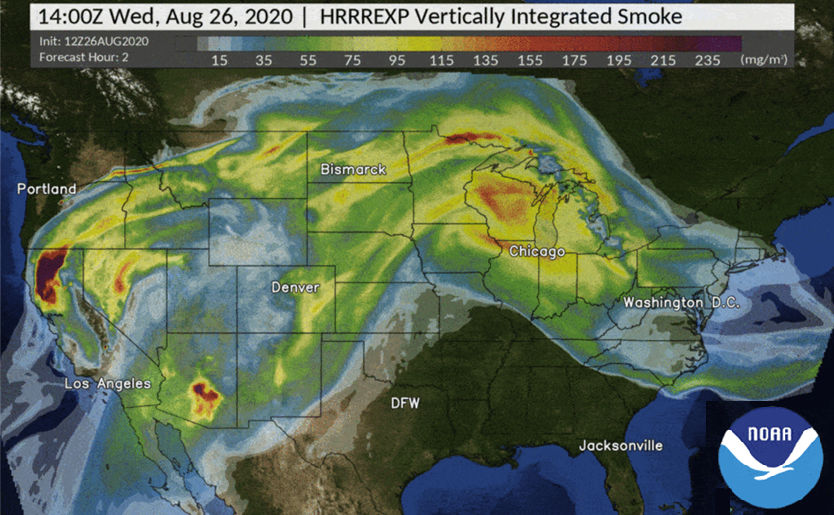 Model that Predicts Wildfire Smoke Becomes Operational