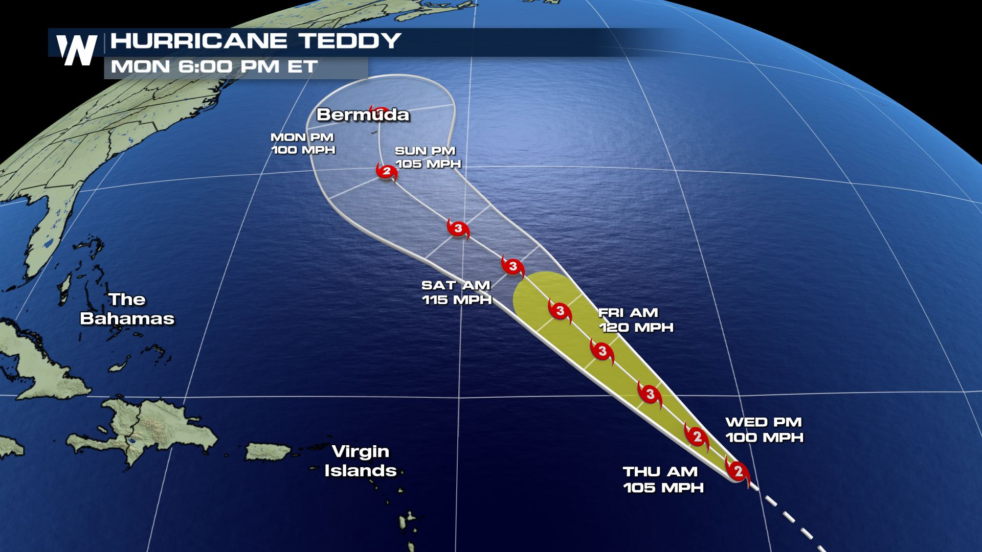 Bermuda Watching For Hurricane Teddy After Paulette Weathernation