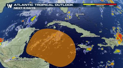Tropics Update: Area of interest in the Caribbean