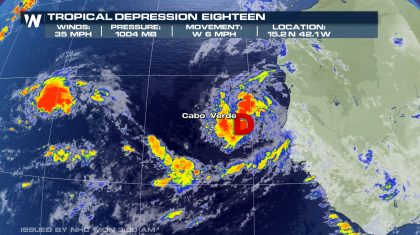Tropical Depressions #17 has Formed in the Atlantic