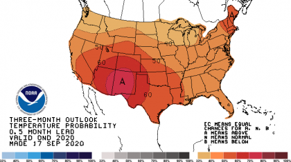 End of Year Outlook:  Warm & Dry over Most of the Nation