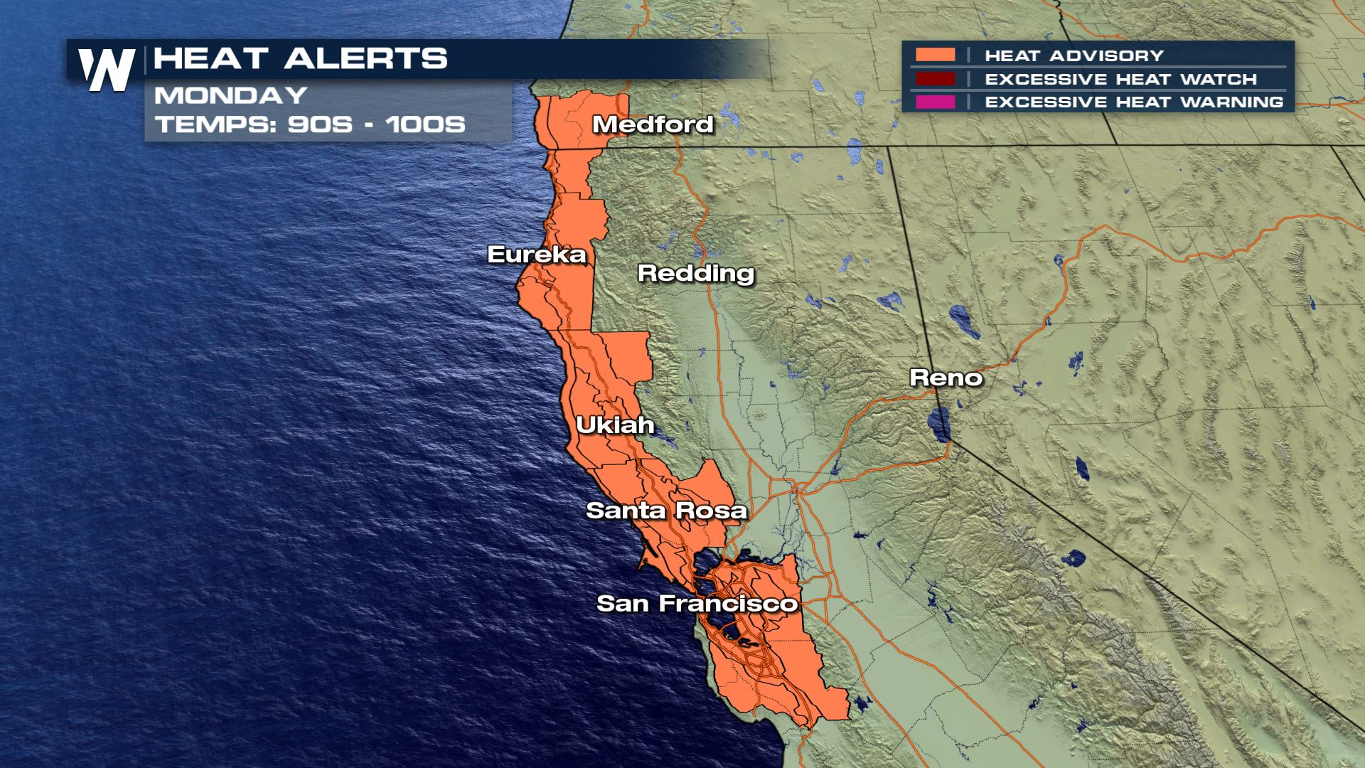 Dangerous Heat for California Monday